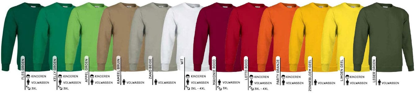 Sweaters bedrukken of laten borduren
